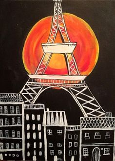 """""""Paris Moon"""" Paint the perfect party at www.GalleryOnTheGo.com! #GOTGFUN #ArtOfSocializing"""