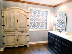 If+built-in+cabinetry+isn't+an+option,+incorporate+an+interesting+or+antique+piece+of+furniture.