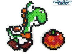 Yoshi Nintendo Super Mario World Perler by GeekMythologyCrafts