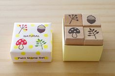 Petit Stamp Set  NATURAL by karaku on Etsy, ¥1050