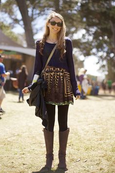Festival Fashion at Outside Lands - Dritter Tag - Outfits für Sommer und Fest Boho Outfits, Casual Outfits, Cute Outfits, Fashion Outfits, Fashion Ideas, Music Festival Fashion, Festival Outfits, Festival Style, Winter Festival