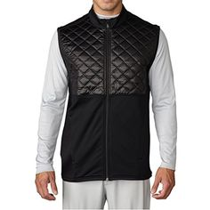 Adidas Golf 2016 Climaheat Prime Fill Gilet Insulated Quilted Mens Golf Thermal Vest Black Medium * More info could be found at the image url. Note:It is Affiliate Link to Amazon.