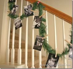 cute way to display Chritmas cards! Also an idea for the mantle above the fireplace