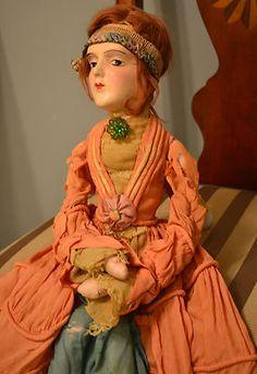 Beautiful Vintage Composition Art Deco Flapper Anita Boudoir Doll Bed Doll | eBay