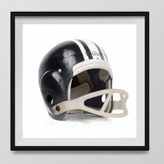 Vintage Black Football Helmet on White Background Fine Art Photography Print, Vintage Sports Nursery Art, Sports Decor, Man Cave art, Sport Prints, Boys Nursery decor, Kids Room Wall Art,. An unframed fine art photo print. All my photos are printed with love on premium finish Kodak Endura Lustre photo paper that won't curl or yellow over time. These are real photographs, not inkjet prints. It will be shipped safely to you in rigid and moisture resistant packaging. SIZES available (Above...