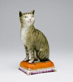 Staffordshire Figure of a Cat - England, c. 1850