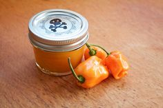 Rick Bayless recipe for a spicy and flavorful habanero hot sauce! Trial 1 of my hot sauce experiment 2018 Habanero Recipes, Habanero Sauce, Hot Sauce Recipes, Spicy Recipes, Mexican Food Recipes, Habenero Salsa, Habanero Hot Sauce Canning Recipe, Pepper Recipes, Rick Bayless