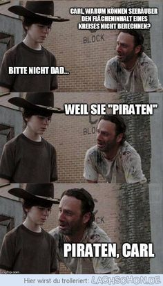Piraten - piraten, walking dead, carl, witz, pi, rick, kreis
