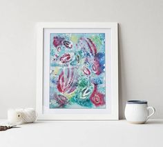Original Watercolor Painting. Original Abstract Watercolor