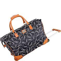 """Diane Von Furstenberg Diane Signature 20"""" Wheeled City Bag - Nude/Black - I really really really really want this"""
