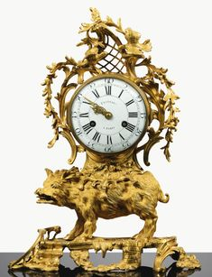 date unspecified A GILT-BRONZE MANTEL CLOCK, LOUIS XV, THE DIAL SIGNED FESTEAU/A PARIS 25,000 — 40,000 EUR 28,472 - 45,555USD. Unsold
