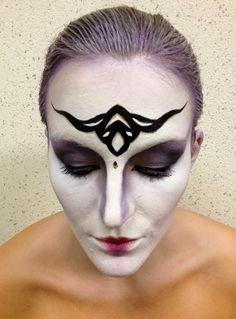 fantasy make-up / facepaint / alien princess (mua: Karolien Olaerts) Fantasy Make Up, Halloween Face Makeup, Princess, How To Make, Princesses