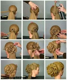 Rose Pedal Hairstyle updo