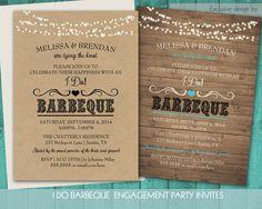 I Do BBQ Wedding Reception Invitation Wedding by NotedOccasions