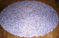 Lilac 4' Round Rug, Nursery Rug, Baby Rug, Princess Rug, Shag Rug, Rag Rug, Area Rug, Ruffled Rug by RuffledRugsandMore on Etsy