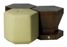 Contemporary pouf / leather PUZZLE  Autoban