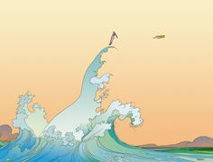 In 2011, Moebius was hired by fragrance company Hermès to create nine illustrations for a new line called Voyage d'Hermes. Three of these images are direct recreations of scenes from various Aedena stories featuring Stel & Atan.