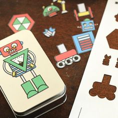 Need a last minute stocking stuffer? Your kid is going to love this Design-A-Robot Stocking Stuffer! Free printable included.