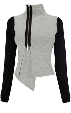 Interesting idea toupcycle - Karen Millen Jersey Knit Jacket great with sweats for a trendy chill out look Winter Fashion Outfits, Modest Fashion, Look Fashion, Autumn Fashion, Womens Fashion, Fashion Trends, Outfit Winter, Trending Fashion, Karen Millen