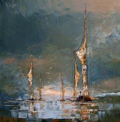 "Saatchi Online Artist: Justyna Kopania; Oil, 2013, Painting ""Boats"""