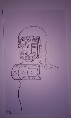 6-15-2016 Surrealist woman - Random genetic slot machine