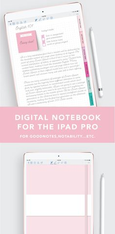 Dotted Digital Notebook This digital notebook has taken the place of all of my other ones! It is so easy to import stickers, take notes.etc! The tabs are even hyperlinked. I use mine with good notes and my iPad pro.