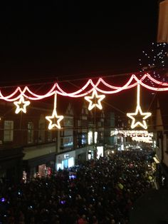 The Christmas lights are on!
