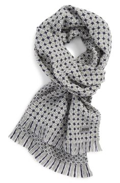 Men's Fashion | Hugo Boss wool scarf.
