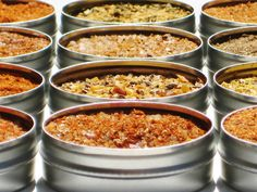 Deluxe BBQ Dry Spice Rub Sampler - 12 gourmet blends - includes Bacon, Hickory & Mesquite - DIY cooking spices for the chef / grill master. $24.95, via Etsy.