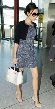 Seen on Celebrity Style Guide: Victoria Beckham at Heathrow 8/8/2010