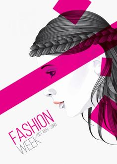 Fashion hairstyle girl vector poster Free Vector