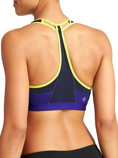 Push The Limit Bra - The compressive sport bra with a cutout mesh racerback design that offers medium support for your aerobic training.