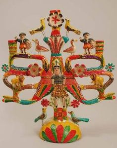 Mexican Tree of Life candelabra (via Secret Tree of Life blog)