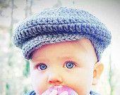 Donegal Irish Crochet Golf Hat for Infant, Baby, Boy