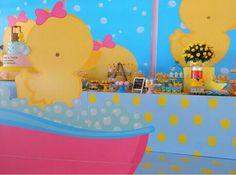 Chá de fralda tema patinho Baby Shower, Album, Birthday, Party, Diapers, Bath, Pink, Craft, Meet