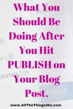 Post Publish Checklist to Get Traffic. #BLOGGING#BLOGGERTIPS #BLOGS