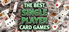 In endeavoring to catalog single player card games, one first finds that the word Solitaire must be included in every entry. For the word itself defines the content, meaning 'a game for one player'… Single Player Card Games, Solo Card Games, Card Games For One, Family Card Games, Fun Card Games, Playing Card Games, Solitaire Cards, Addition Games, Gaming