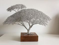Clive Maddison / Wire Tree sculptures #artpeople
