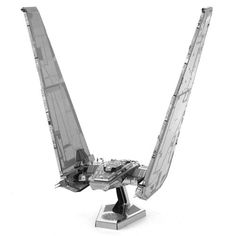 The Star Wars Force Awakens Kylo Ren Shuttle Metal Earth Kit is a great model that doesn't require glue or solder and looks just like the new villain's ship from JJ Abrams' Force Awakens!