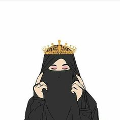 kumpulan anime kartun muslimah bercadar terbaru - my ely Cute Muslim Couples, Muslim Girls, Hijabi Girl, Girl Hijab, Girl Cartoon, Cartoon Art, Hijab Musulman, Hijab Dress, Fond Design