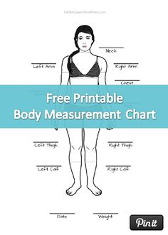 Free Printable Body Measurement Chart  Weight Measurement