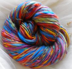 Handspun Yarn & Knitting Pattern Kit  AN UNEXPECTED by PurpleLamb