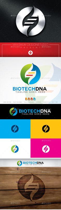 Biotech DNA Logo Template Vector EPS, AI. Download here: http://graphicriver.net/item/biotech-dna-logo-template/11295842?ref=ksioks