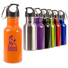 Shop at Deluxe for the 17 oz. Stainless Steel Adventure Bottle that can be customized with your logo or personalized message. Stainless Steel Adventure Bottle in bulk at wholesale prices today. Bpa Free Bottles, Custom Water Bottles, Personalized Water Bottles, Custom Travel Mugs, Personalized Travel Mugs, Promotional Water Bottles, Trade Show Giveaways, Stainless Steel Water Bottle, Cleaning