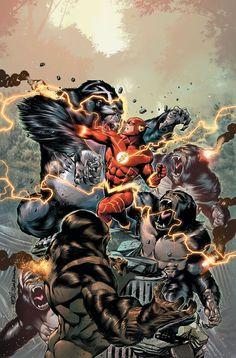 The Flash vs Grodds by Rafa Sandoval Arte Dc Comics, Lego Dc Comics, Flash Comics, Dc Comics Heroes, Dc Comics Characters, Kid Flash, Comic Books Art, Comic Art, Book Art
