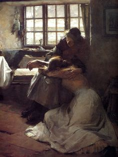 Frank Bramley: A Hopeless Dawn (detail) by deflam, via Flickr