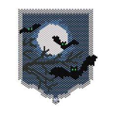 Bats Necklace Pattern | Bead-Patterns.com