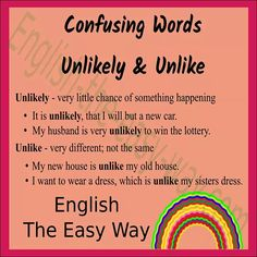 It is unlikely I will _______. 1. see the world 2. win money 3. both #ConfusingWords