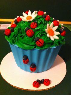 Ladybug Giant Cupcake