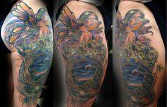 Pin Mystical Fairy Tattoo Tattoomoon Tattooflash on Pinterest